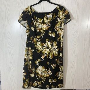 Olivia Matthews Scoop Neck Floral Dress Size 18W